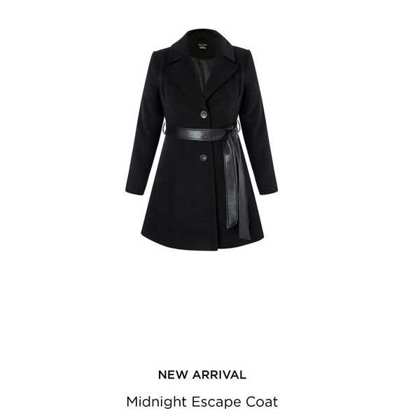 Midnight Escape Coat - City Chic