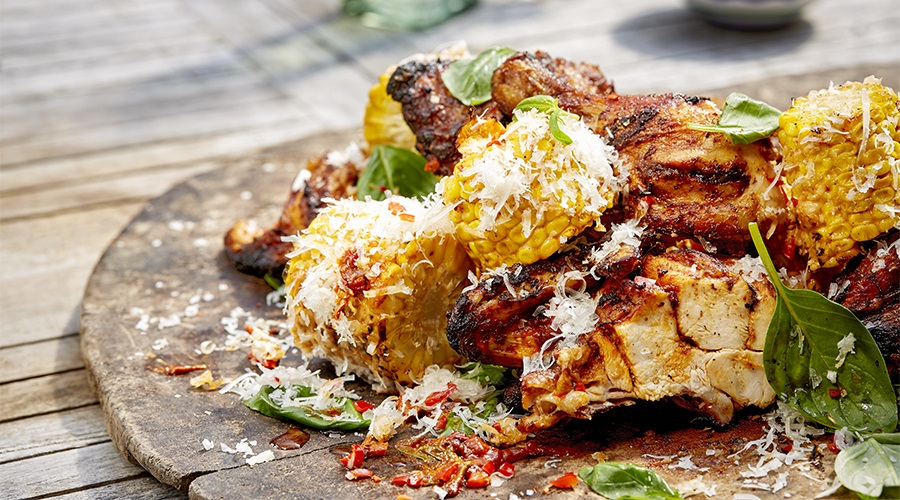 Peri Peri BBQ Chicken and Grilled Corn on the Cob - Miguel Maestre Stockland A to Z of Mmmm
