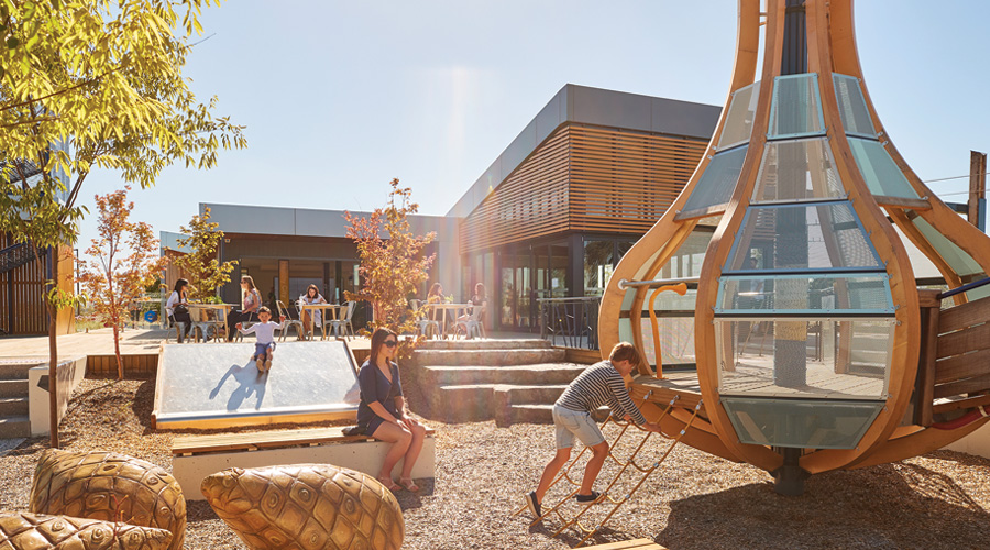 The inclusive playground at Stockland's Cloverton masterplanned community at Kalkallo, Vic