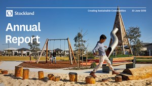 The cover of the Stockland Annual Report 2018