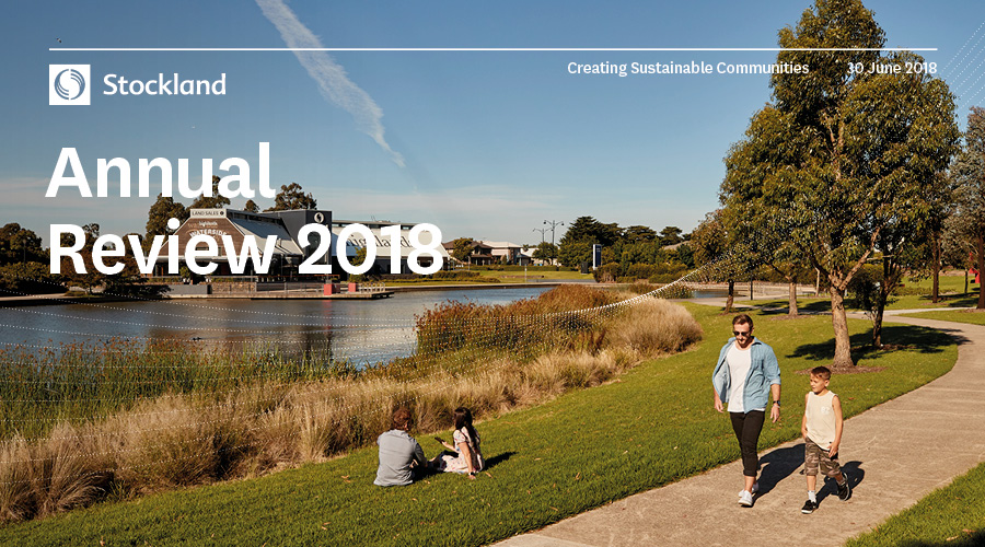 The cover of the Stockland Annual Review 2018