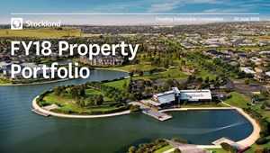 The cover of the Stockland Property Portfolio as at 30Jun2018
