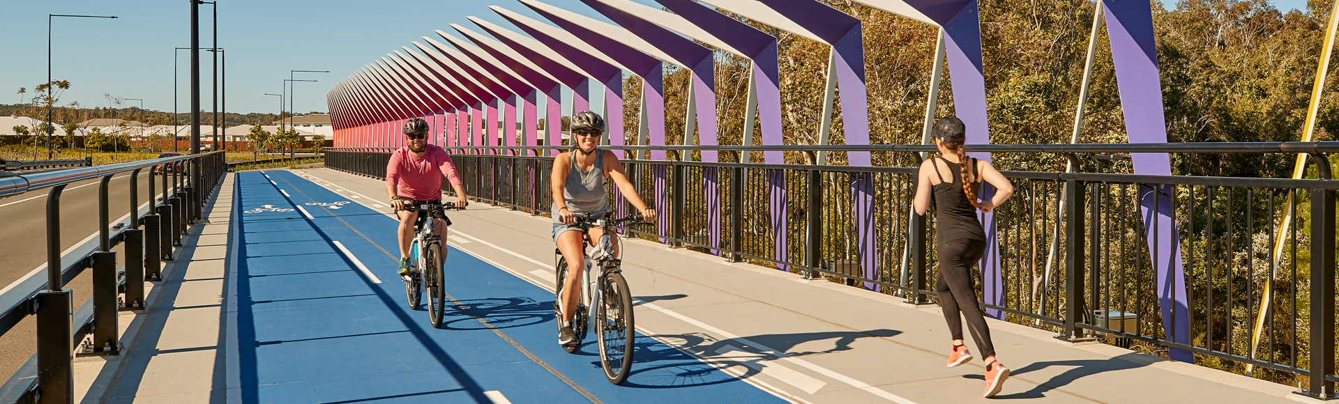 The cycleway at Stockland's Aura community on the Sunshine Coast (Qld)