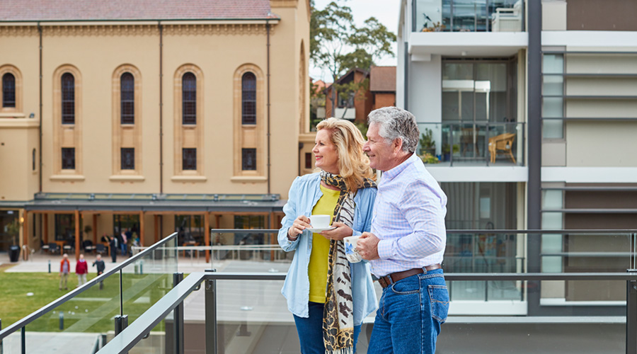 Residents enjoy their apartment's view at Cardinal Freeman The Residences, in Ashfield (NSW)