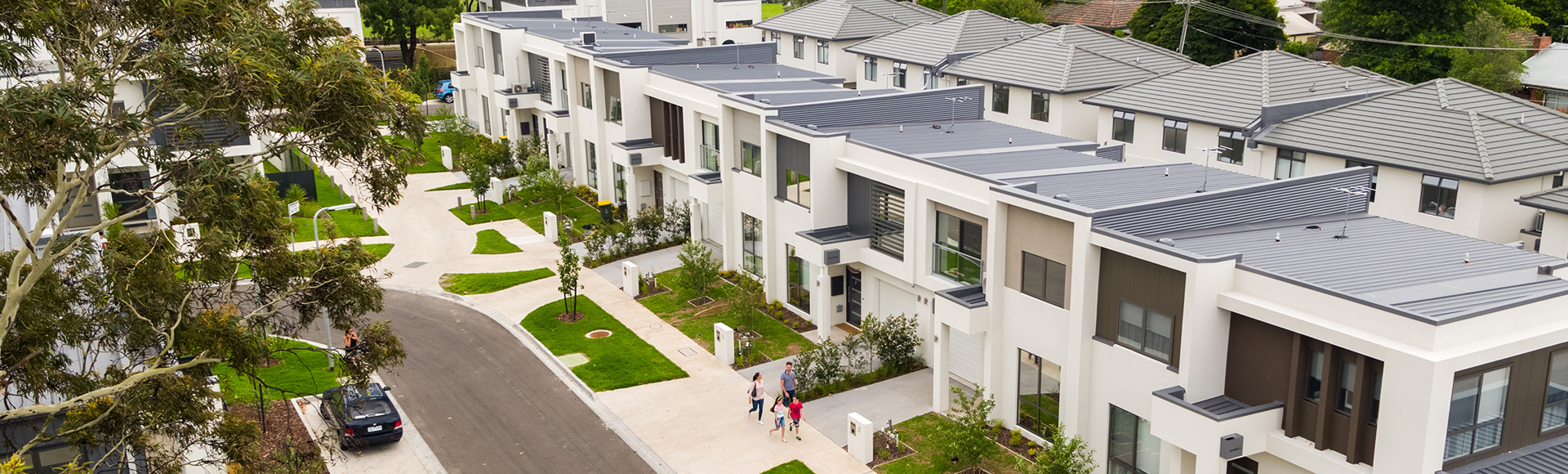 Stockland's Arve townhome development in the Melbourne suburb of Ivanhoe, Vic.