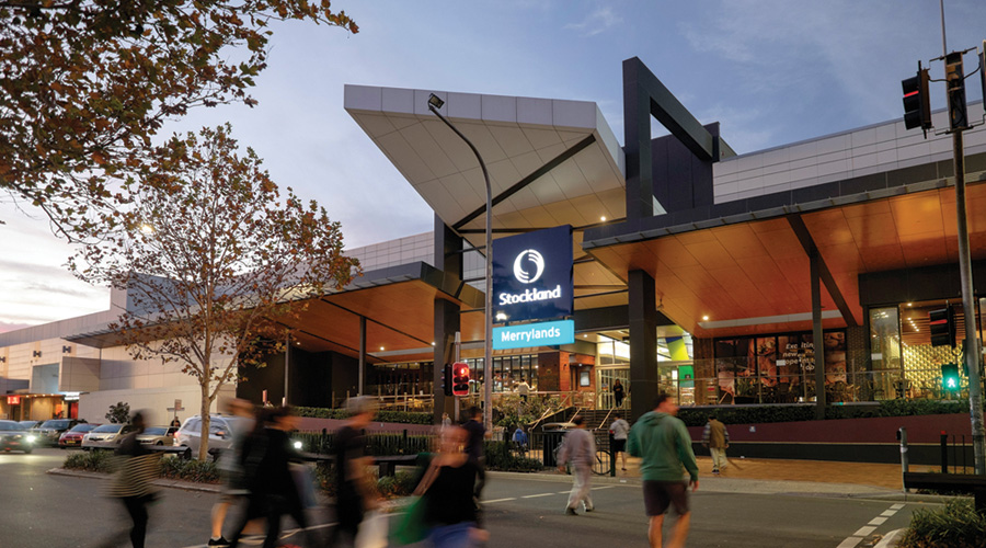 Shoppers at Stockland Merrylands, NSW