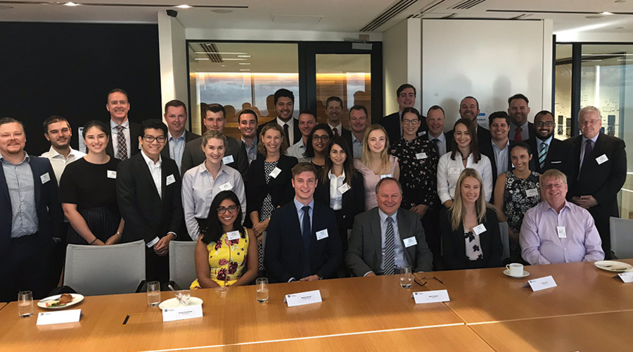 Stockland's 2018 graduates join our Executive Committee to kick off their program.