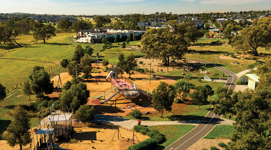 The Golden Sun Moth Park at Stockland's award-winning Highlands masterplanned community in Craigieburn, Vic.