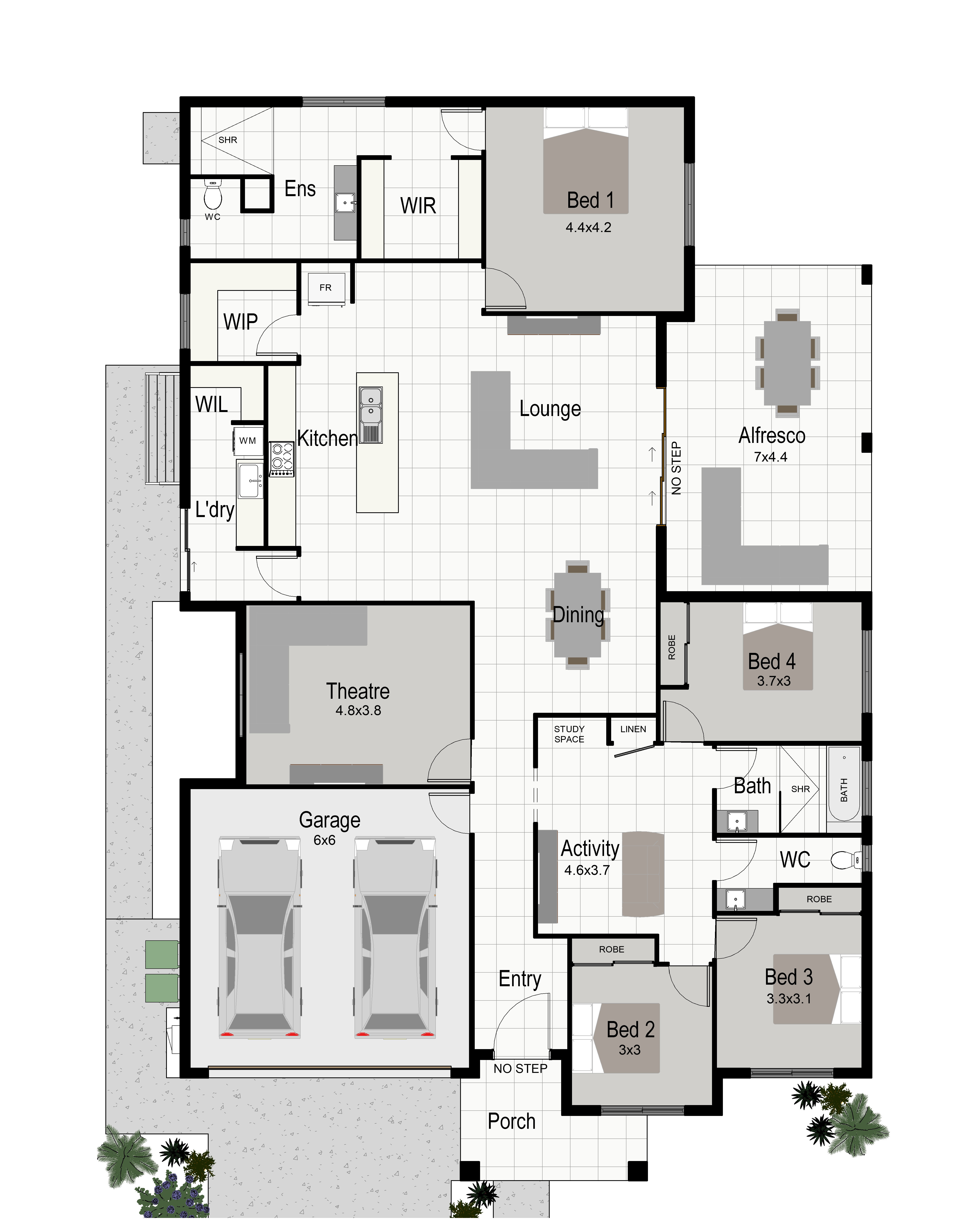 Colour Floor Plan  Standard Version