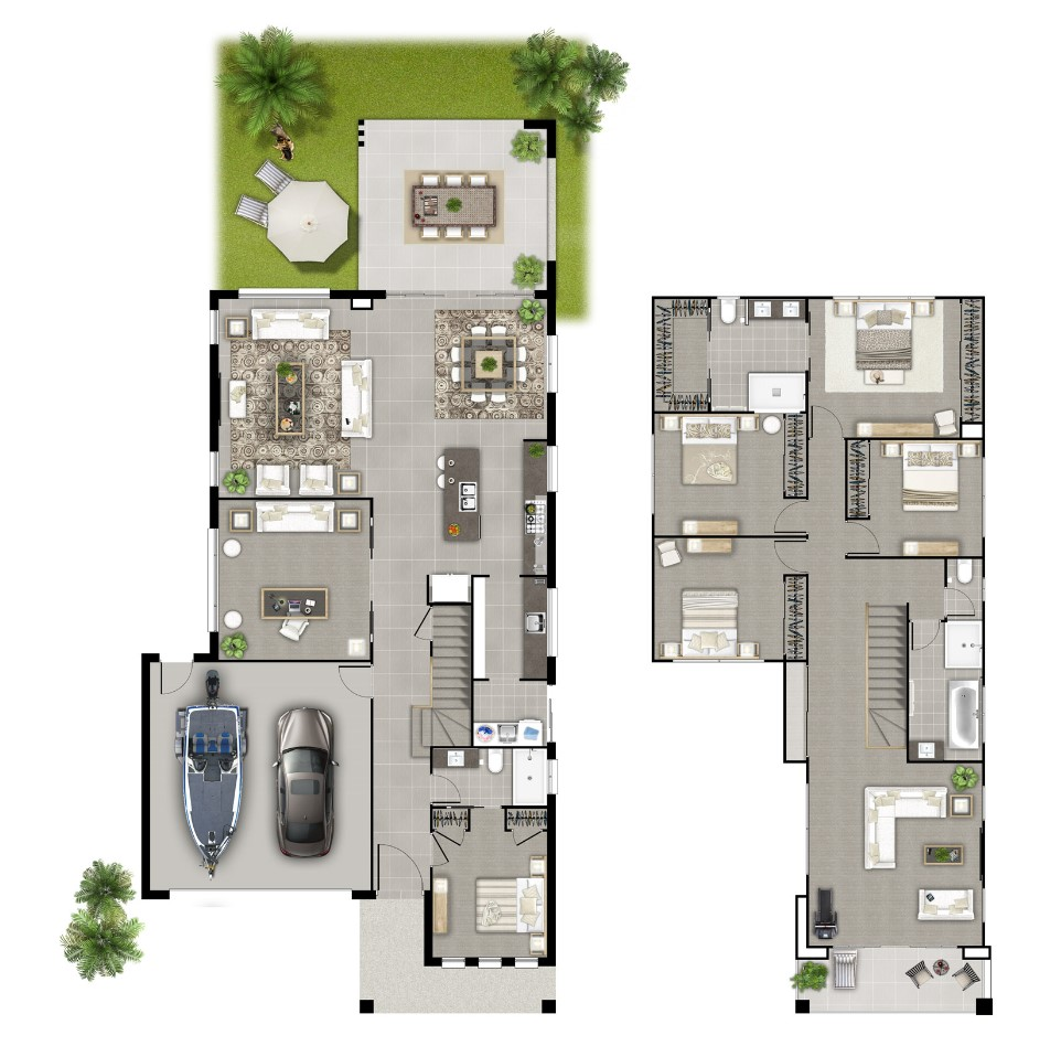 Sanderson Floor plan furnished