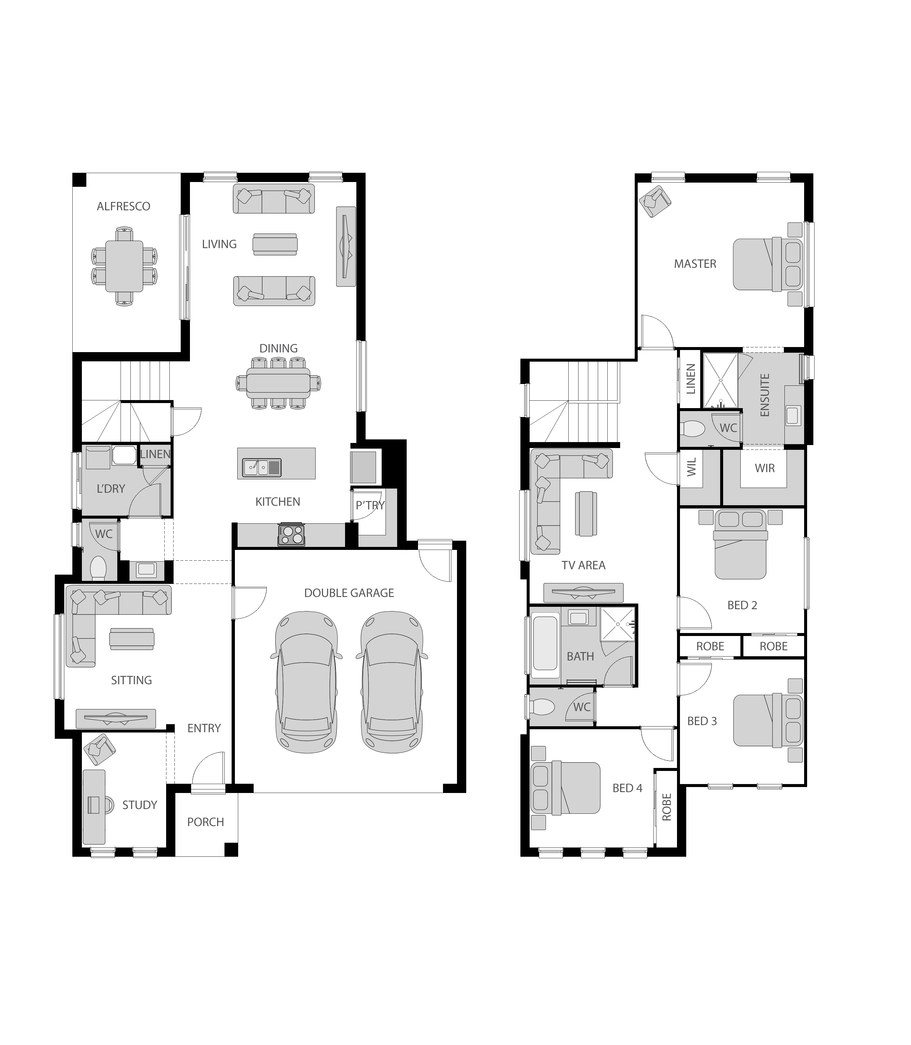Noosa 27 Traditional Floor plan
