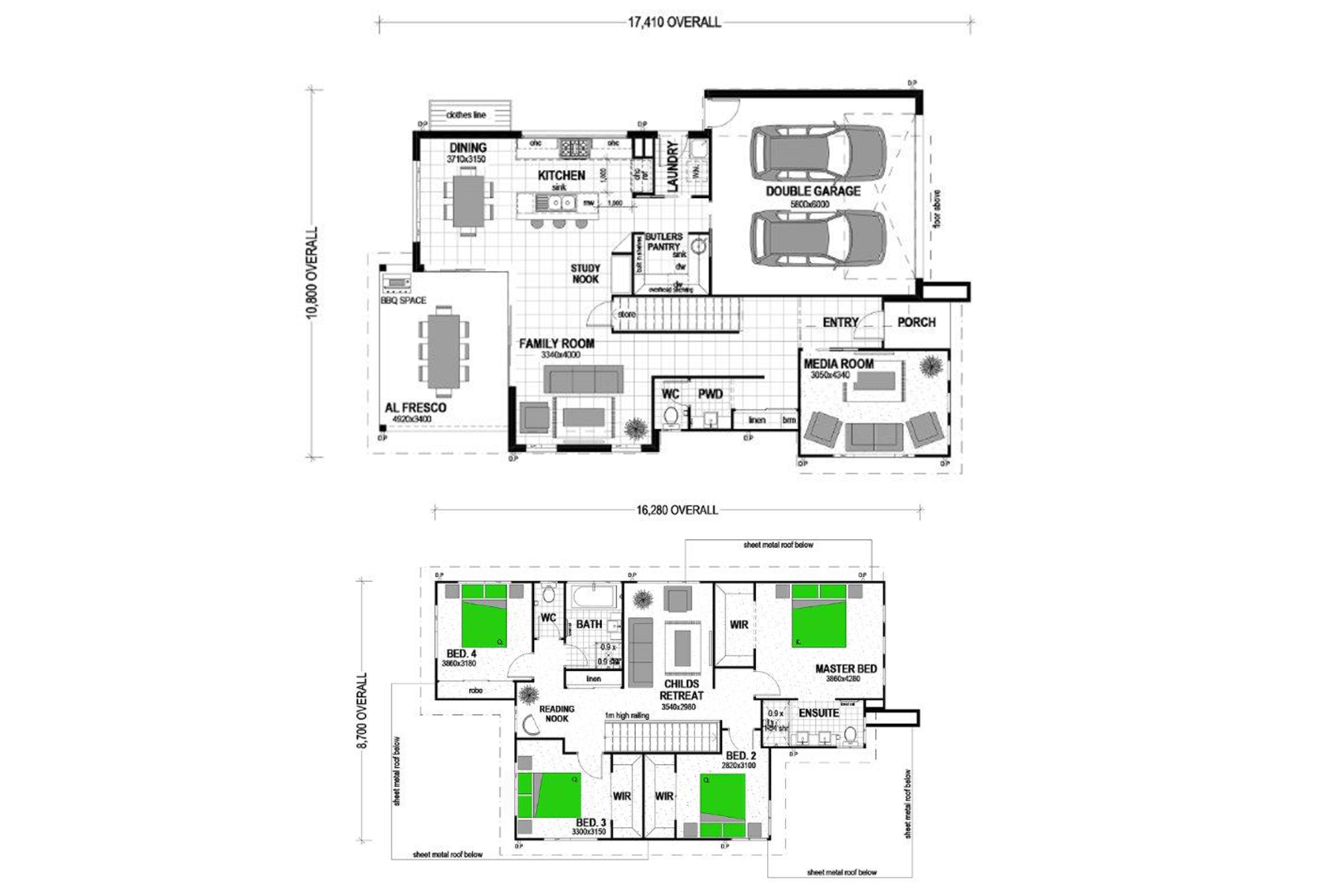 Kirra 255 Two Storey Urban Floorplan