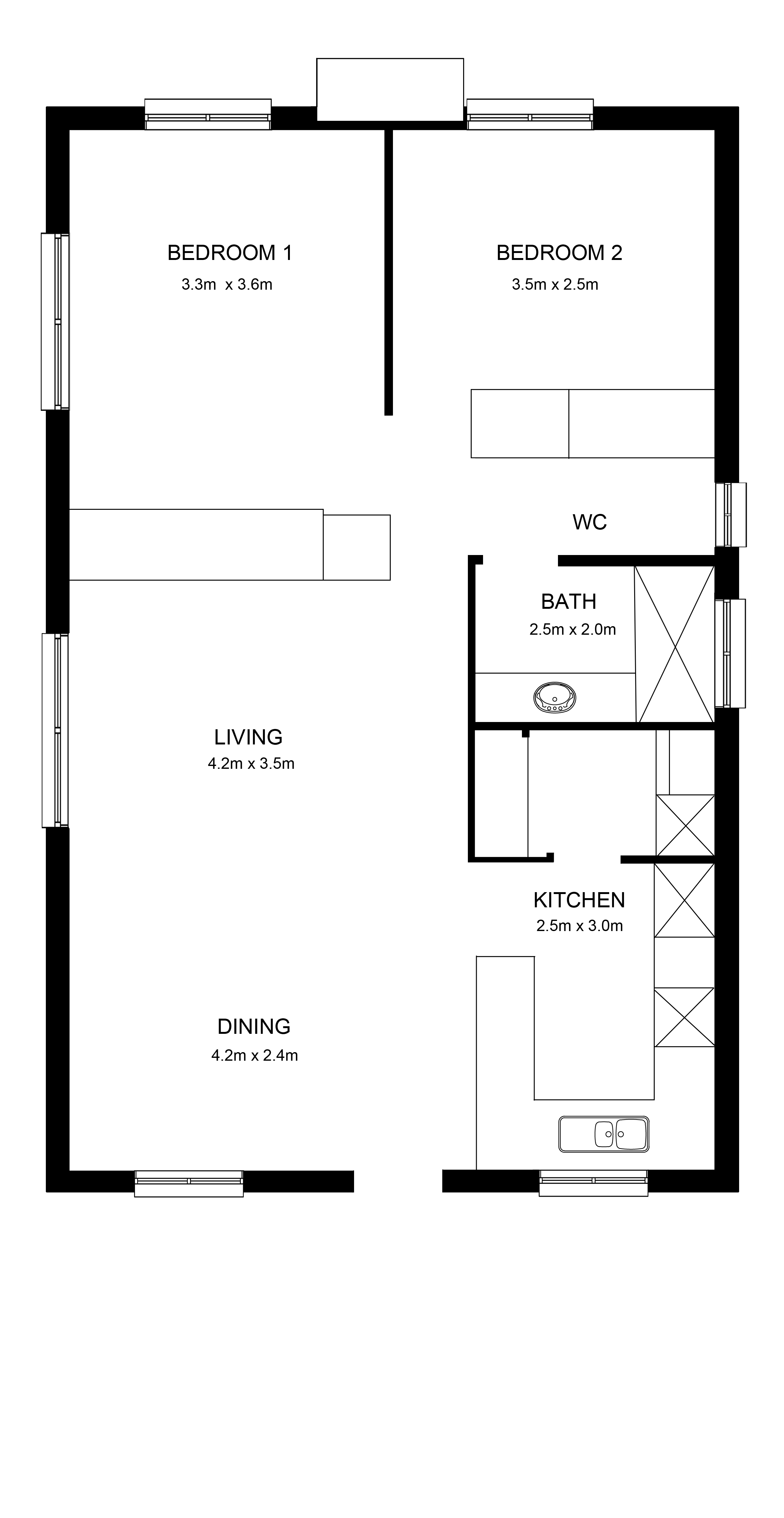 Greenleaves ILU 2x1x1x0 Floorplan
