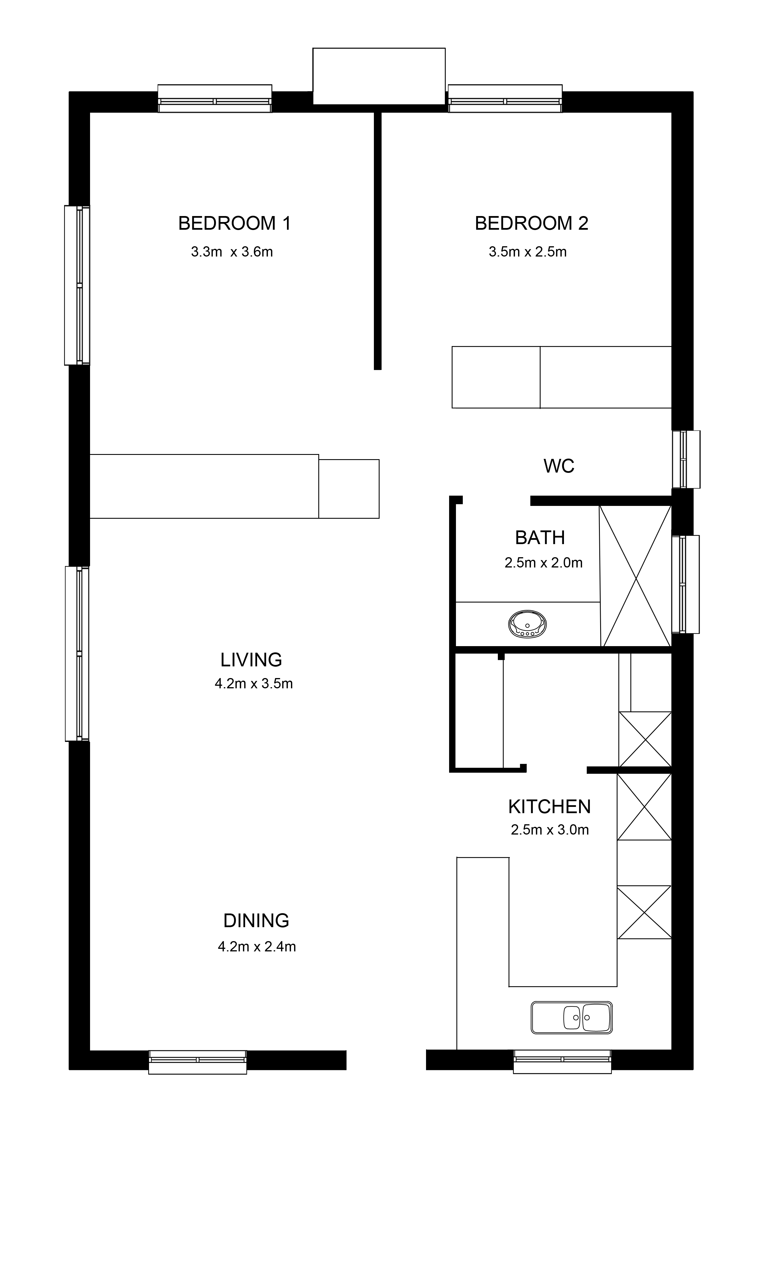 Pine Lake ILU 2x1x1x0 Floorplan