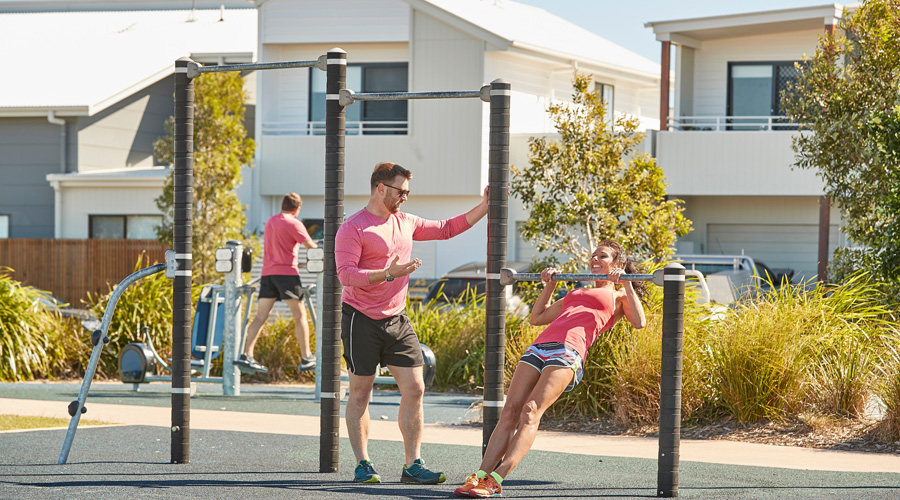 Great outdoor places, like Active Park at Bells Reach in Qld, encourage people to get active.