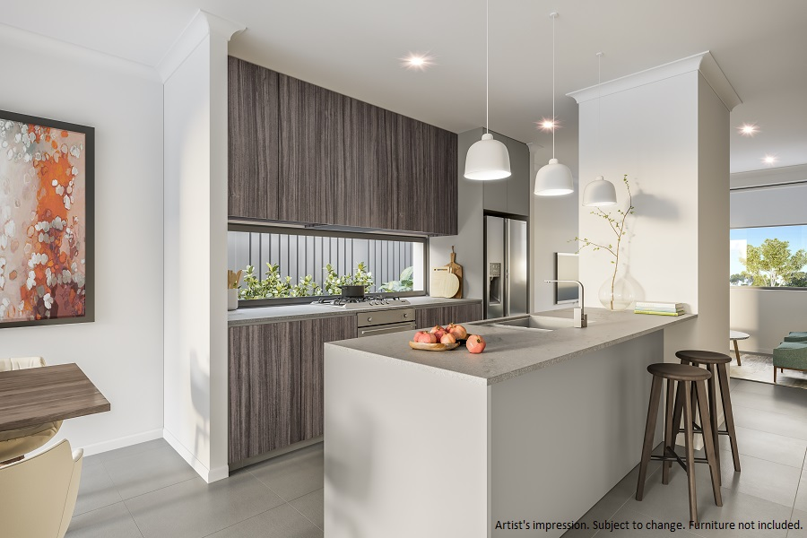 The Kapil Kitchen part of the Avia townhome product at Stockland Altrove