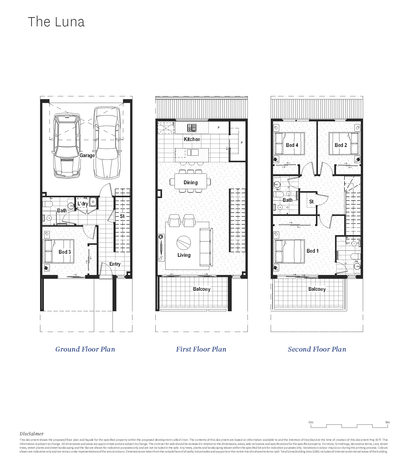 The Luna 4 bed townhome type at Orion Braybrook by Stockland