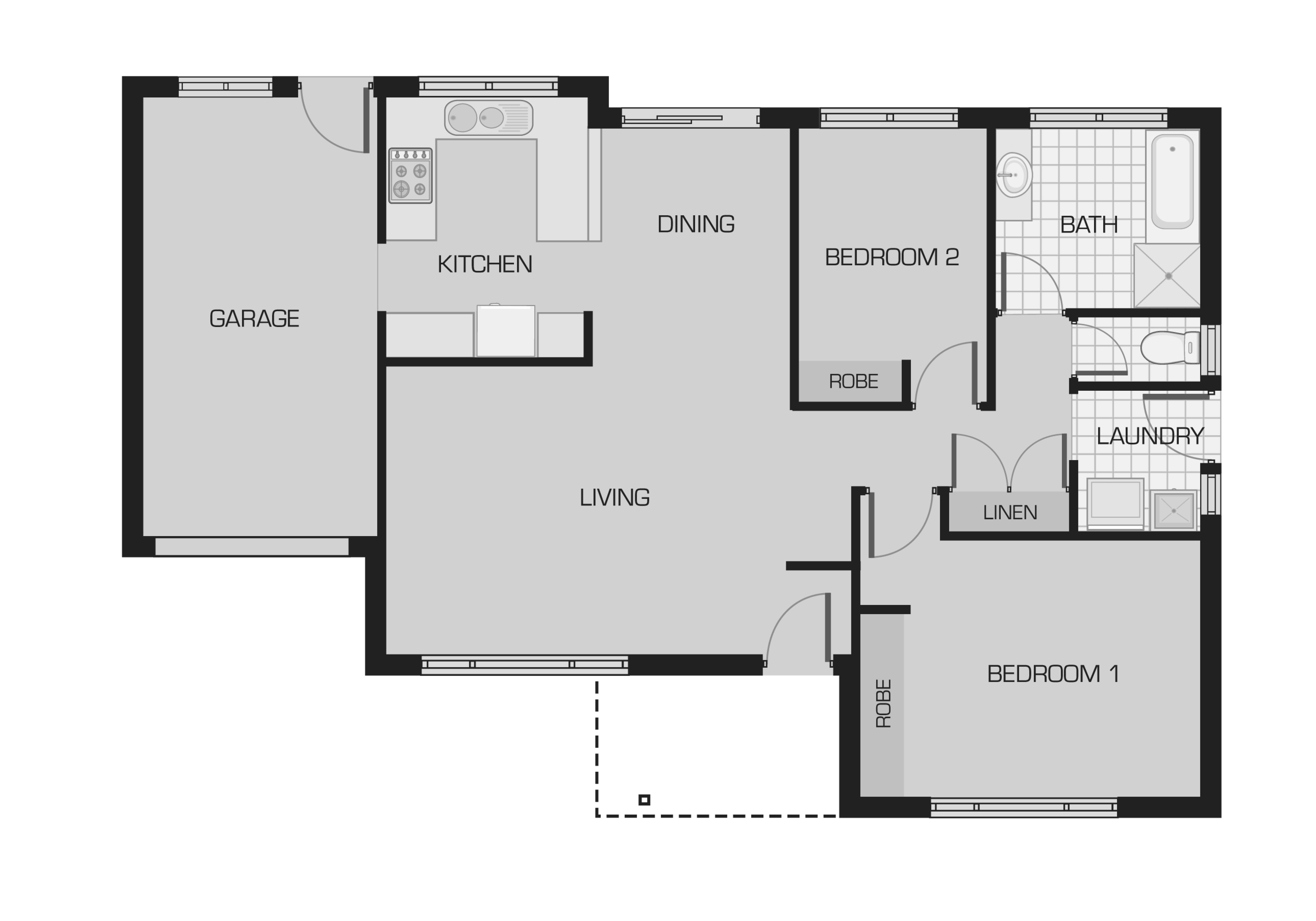Bellevue Gardens_ILU_2x2x1x0_Oxley Floorplan