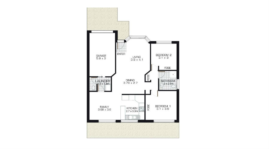 The Abbey Floorplan at Lincoln Gardens Retirement Village in NSW