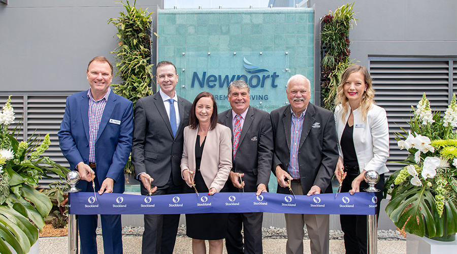 Ribbon cutting at Newport