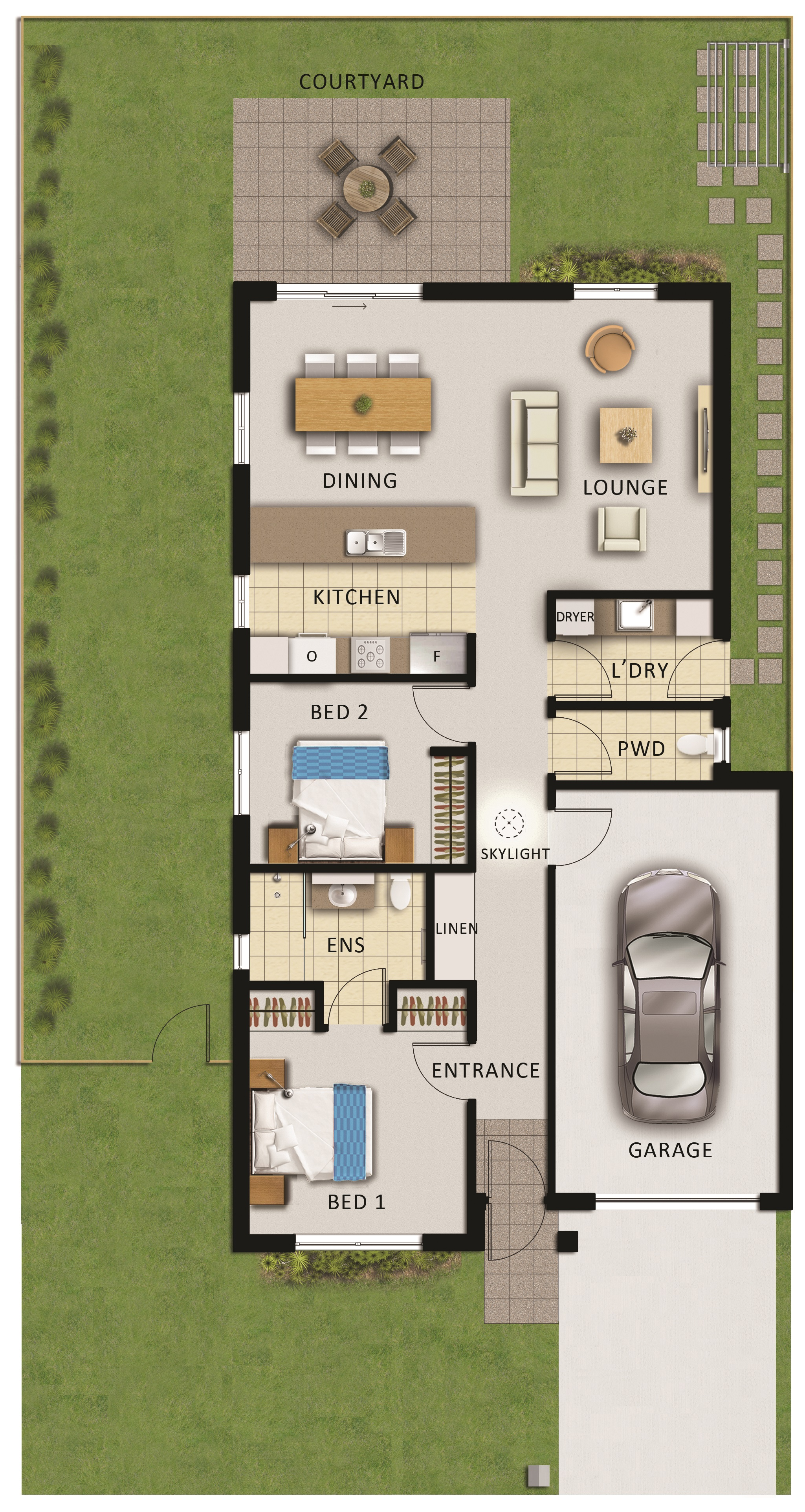 Tarneit Skies Retirement Village Cooper 2 Bed 1.5 Bath 1 Car Villa