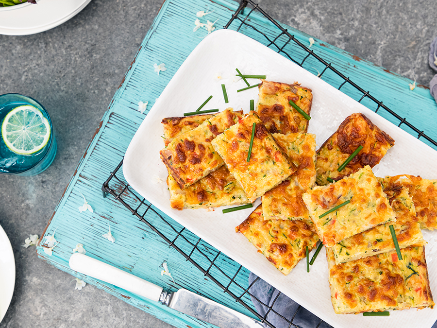 Zucchini Slices on a plate.
