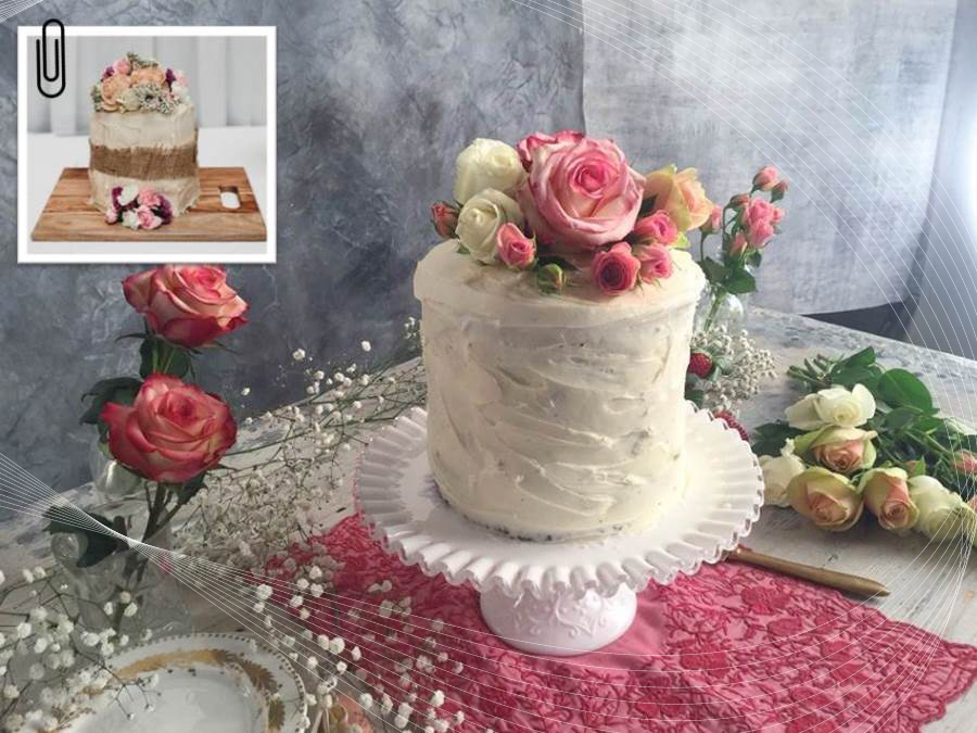 DIY tiered cake for less than $30