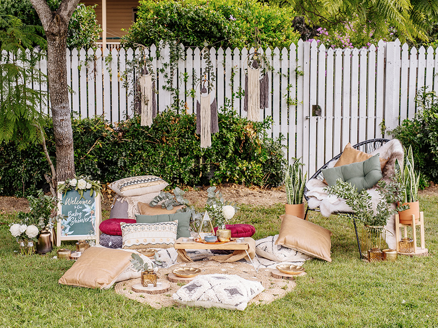 The Perfect Outdoor Baby Shower Setup