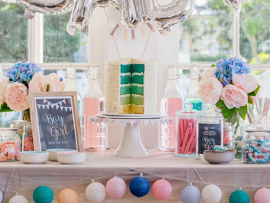 Gender Reveal Candy Table
