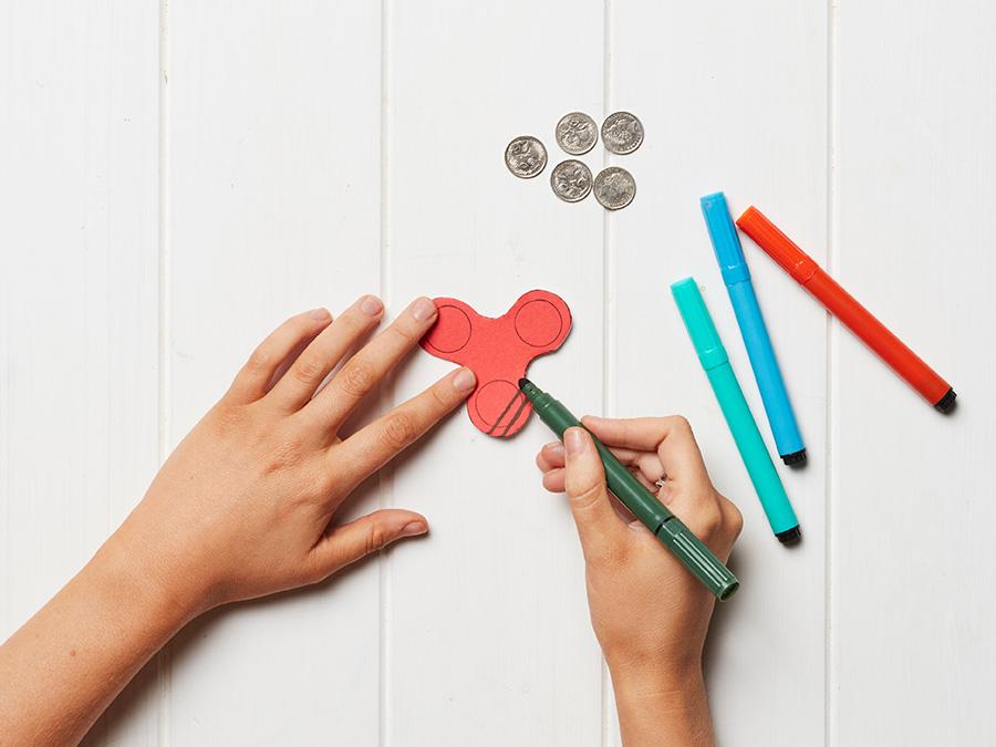 make your own fidget spinner