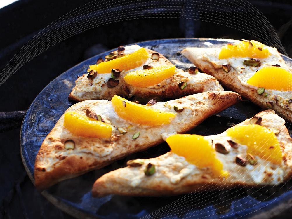 Ricotta & Orange Pizza