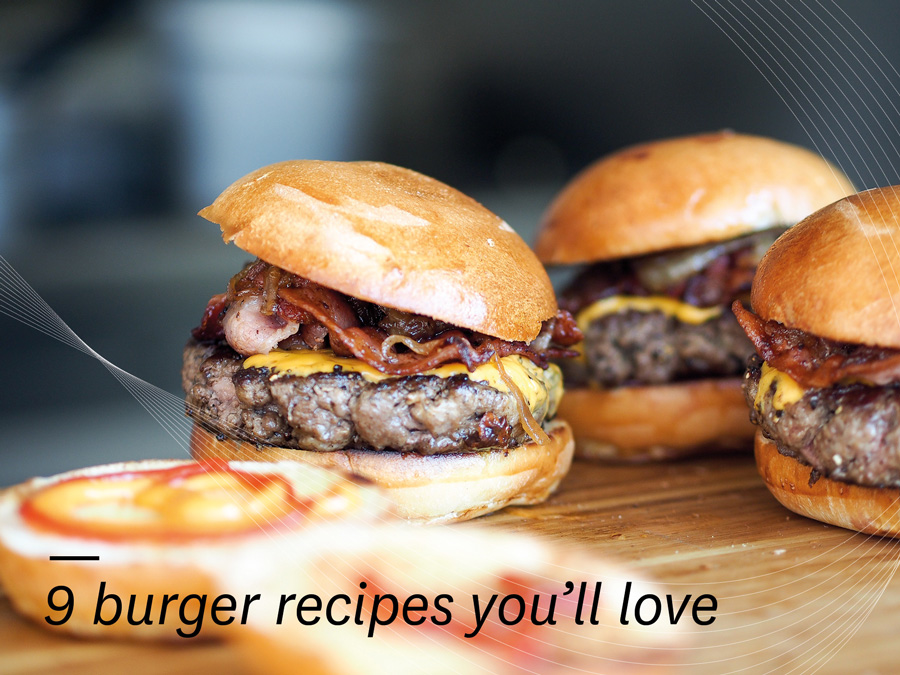 9 Mouthwatering Burger Recipes...
