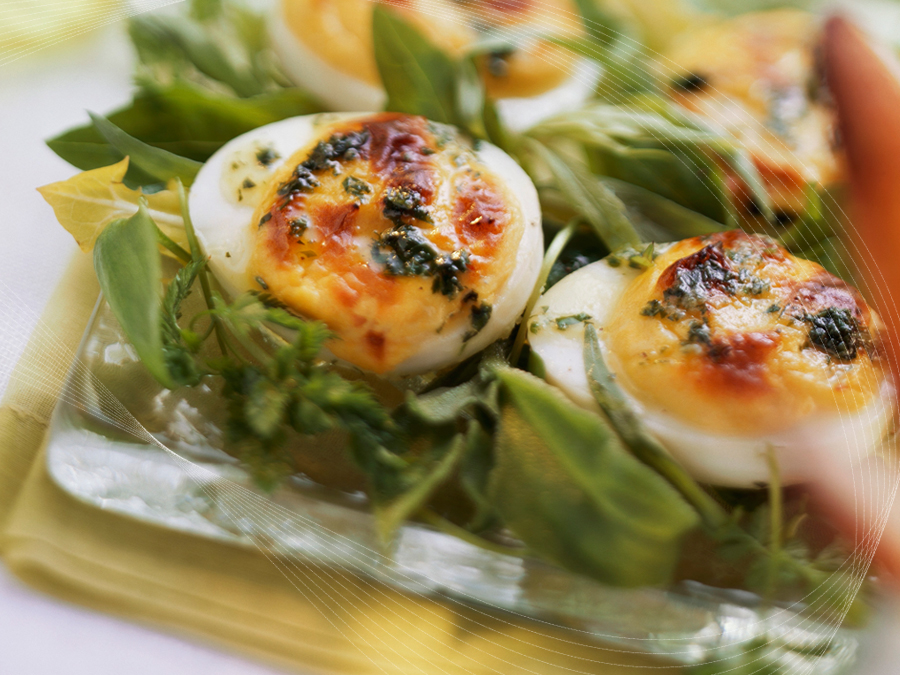 Oven-baked Eggs with Herbs