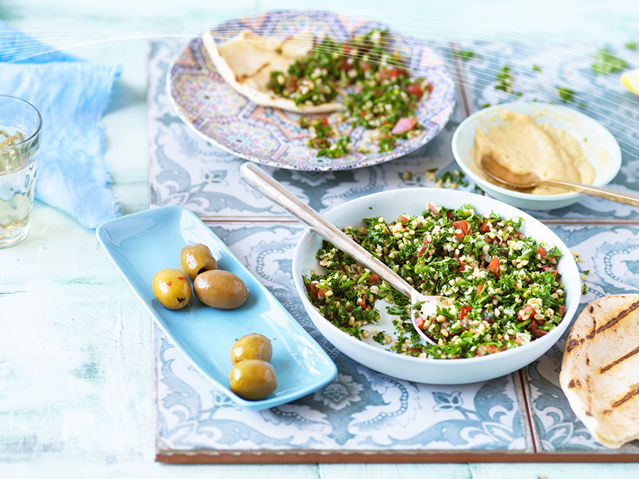 Hummus and Tabbouleh