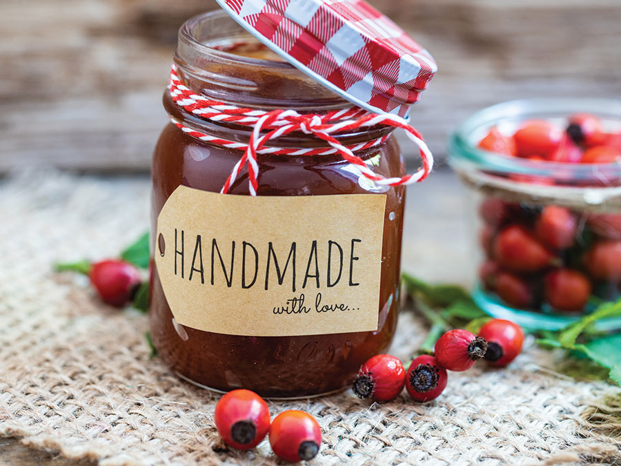 Edible gifts. Homemade preserves