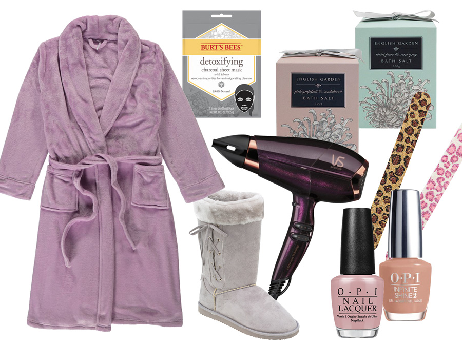 Bath Robe, Ugg Boots and beauty products