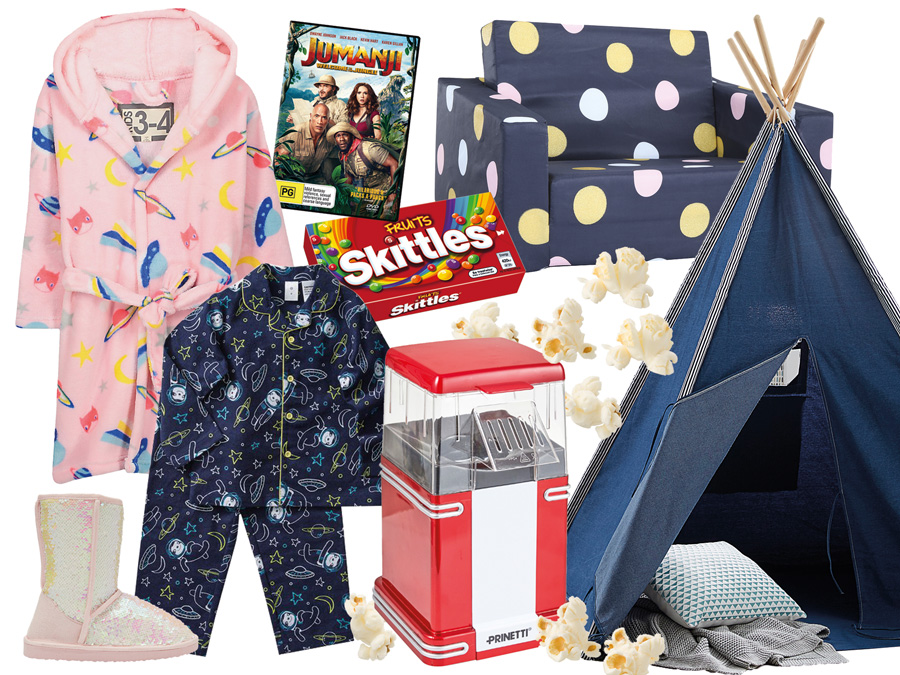 Slumber party Essentials - Robe, lollies, tent, ugg boots
