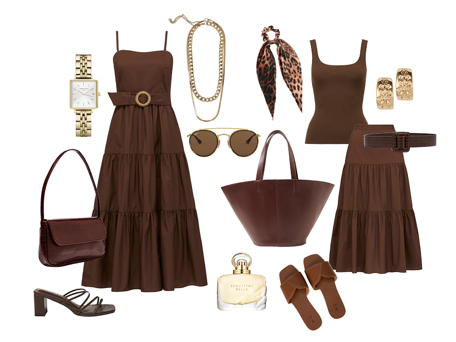 Brown Spring Summer Fashion Items