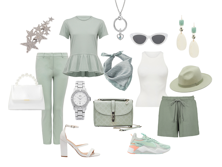 Mint Spring Summer Fashion Items
