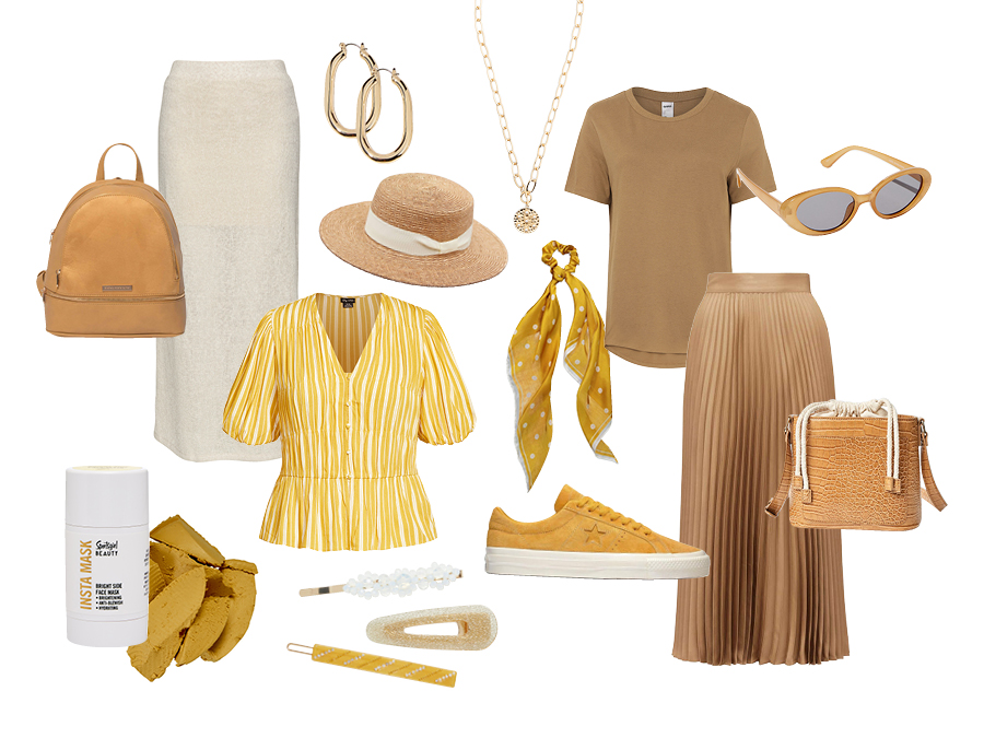 Mustard Spring Summer Fashion Items