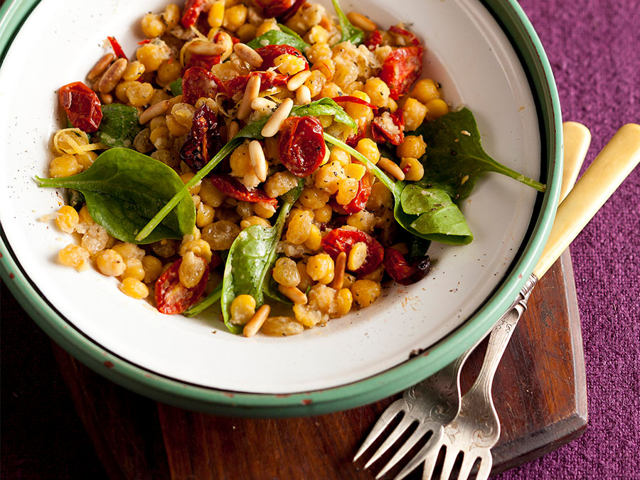 Braised Chickpeas With Spinach And...