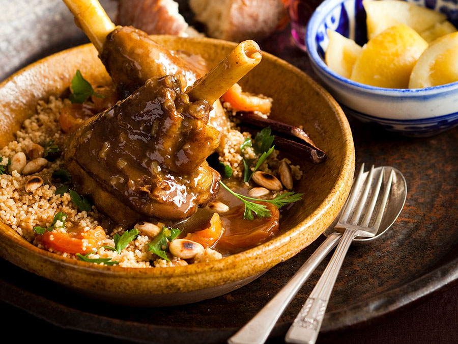 North African Lamb tagine with preserved lemons and toasted couscous