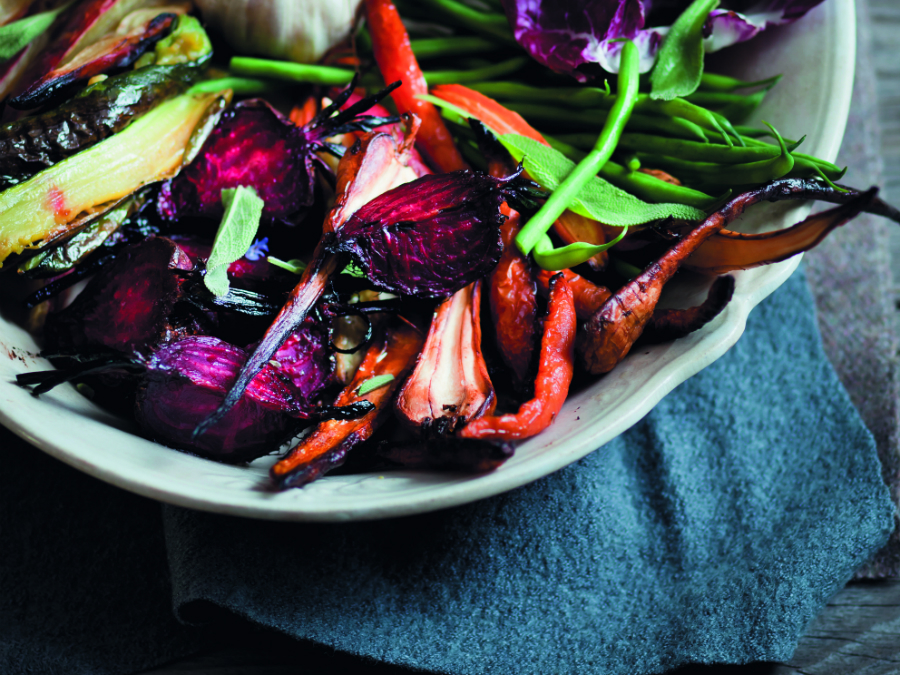 Roasted vegetables with bagna cauda
