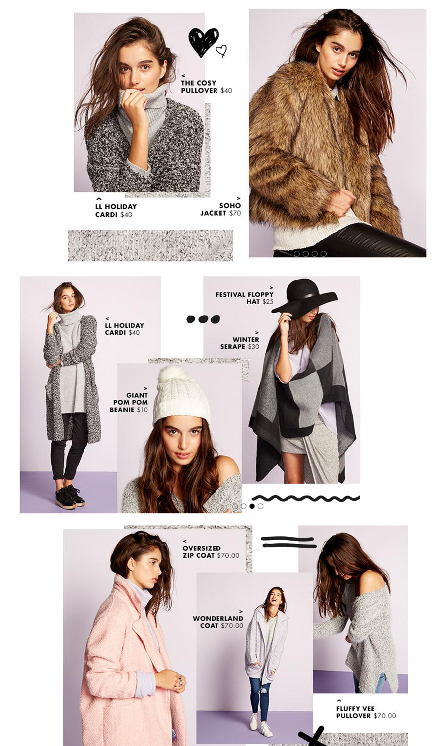 supre cosy winter look book for may 2016