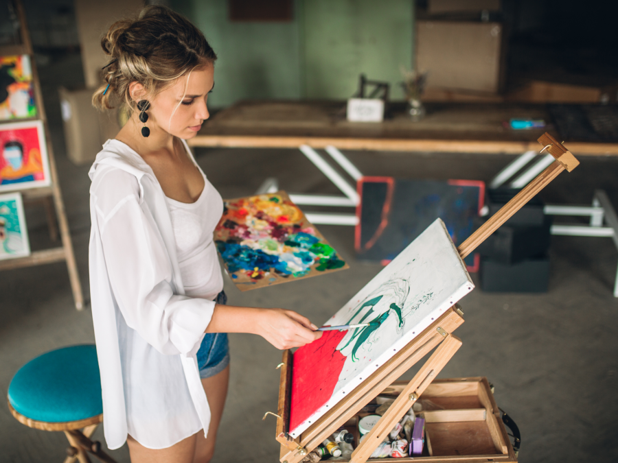 Get Painting At Home With Your Own Abstract Art