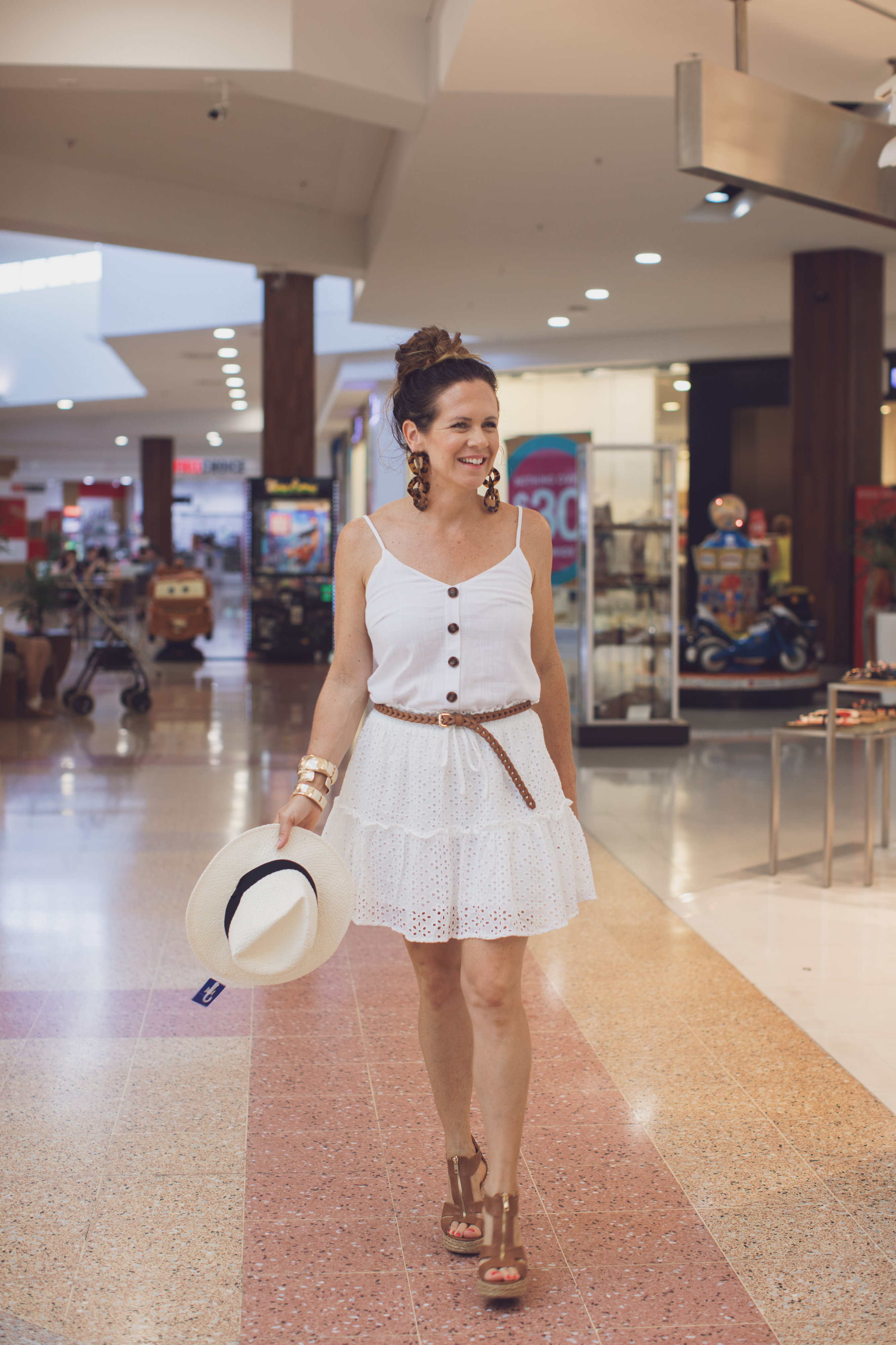 White dress portrait 3 | Stockland Hervey Bay | new Year New you