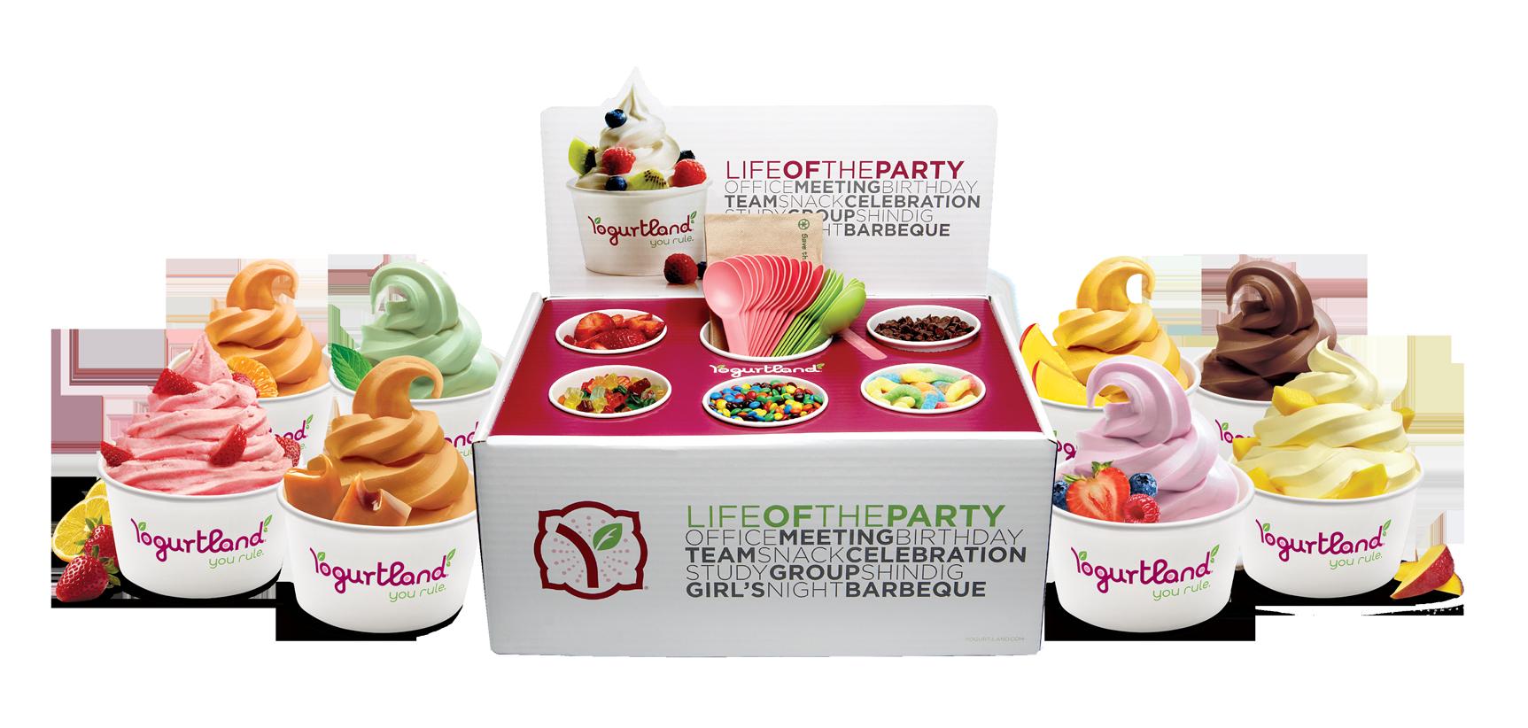 yogurtland catering pack